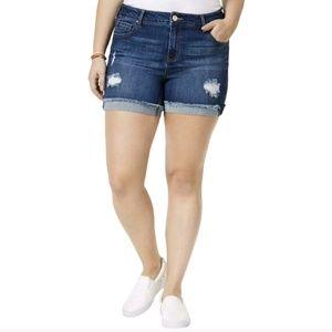 CelebrityPink Distressed Stretch denim Shorts PLUS